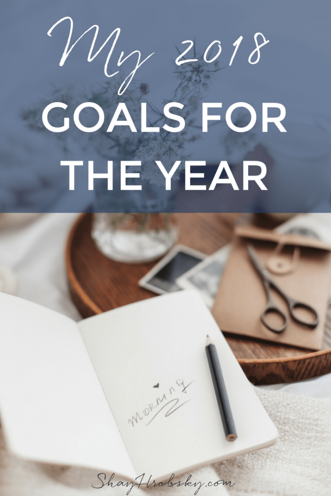 Everyone is sharing their goals for the year. I figured I'd share mine with you too! Come look at my goals :)